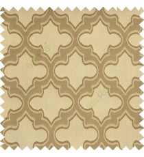Light copper brown grey color traditional moroccan pattern texture borders on design polyester background main curtain