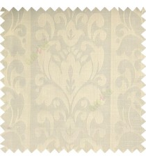 Beige color traditinal designs floral damask texture polyester texture wide vertical stripes background with thin lines main curtain