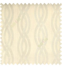 Beige color vertical weaving ropes horizontal short texture lines polyester main curtain