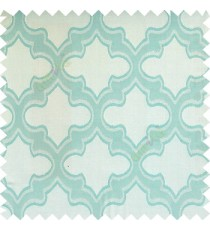Cyan blue color traditional moroccan pattern texture borders on design polyester background main curtain