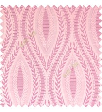 Baby pink purple cream color traditional reverse dots pattern floral leaves border crossing straight lines polyester texture base fabric main curtain