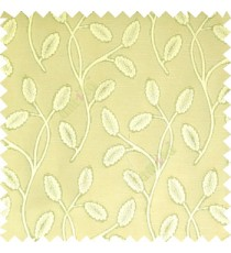 Light green cream color big sized flower buds digital twigs horizontal lines texture finished background main curtain
