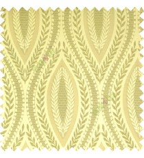 Light green cream color traditional reverse dots pattern floral leaves border crossing straight lines polyester texture base fabric main curtain