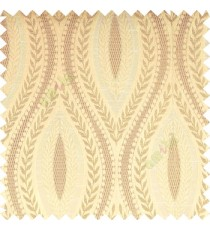 Beige cream light brown color traditional reverse dots pattern floral leaves border crossing straight lines polyester texture base fabric main curtain