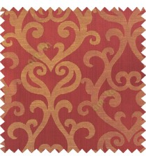 Maroon black beige color traditional big simple damask patterns vertical thin stripes texture base fabric polyester main curtain