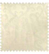 Beige color traditional big simple damask patterns vertical thin stripes texture base fabric polyester main curtain
