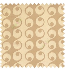 Light brown grey color geometric semi continues hanging designs traditional pattern vertical texture lines polyester base fabric main curtain