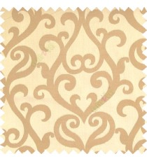 Light brown grey color traditional big simple damask patterns vertical thin stripes texture base fabric polyester main curtain