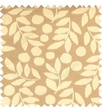 Light brown grey color beautiful floral twigs circles texture leaves pattern vertical stripes horizontal lines main curtain