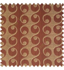 Dark chocolate brown beige color geometric semi continues hanging designs traditional pattern vertical texture lines polyester base fabric main curtain