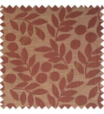 Dark chocolate brown beige color beautiful floral twigs circles texture leaves pattern vertical stripes horizontal lines main curtain