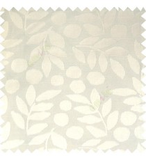 White color beautiful floral twigs circles texture leaves pattern vertical stripes horizontal lines main curtain
