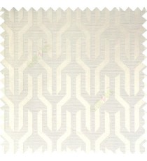 White color geometric designs funnel shape vertical continuous pattern with thin lines polyester base fabric main curtain