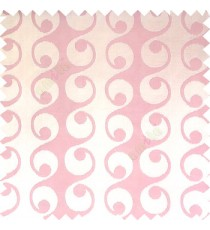 Baby pink cream color geometric semi continues hanging designs traditional pattern vertical texture lines polyester base fabric main curtain