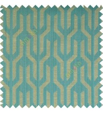 Blue grey beige color geometric designs funnel shape vertical continuous pattern with thin lines polyester base fabric main curtain