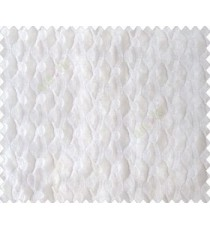 Pure white on white base honeycomb like design continuous embroidery sheer curtain