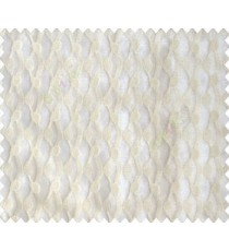 Cream on cream base honeycomb like design continuous embroidery sheer curtain