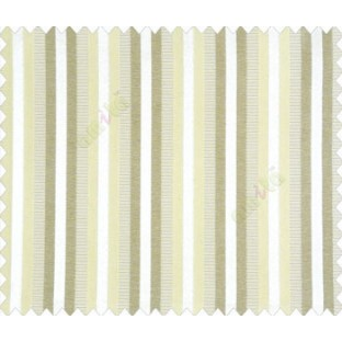 Relaxed contemporary stripes green grey beige shiny base main curtain