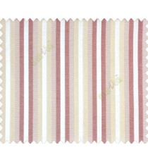 Relaxed contemporary stripes Purple Beige Peach shiny base Main Curtain