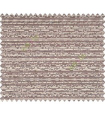 Abstract Horizontal lines Dark Brown Black Copper shiny base Main Curtain