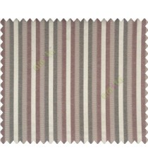 Relaxed contemporary stripes Dark Brown Black Copper shiny base Main Curtain