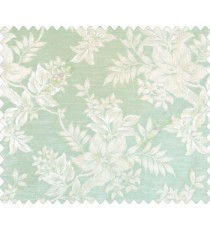 Traditional floral design Beige Gold flowers on Aqua blue green base main curtain