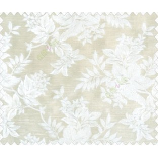 Traditional floral design Beige Gold flowers on Beige brown base main curtain