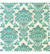 Aqua blue grey and beige color beautiful traditional designs texture background swirls polyester main curtain
