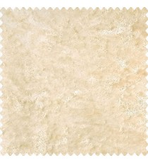 Beige color complete solid surface velvet finished material soft look polyester sofa fabric