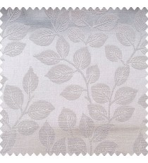 Grey color natural leaf texture finished surface horizontal lines polyester main curtain