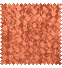 Orange color solid texture finished surface texture gradients geometric dice shapes polyester main curtain