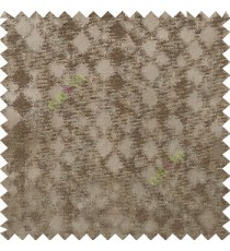 Dark brown color solid texture finished surface texture gradients geometric dice shapes polyester main curtain