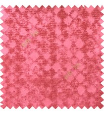 Pink color solid texture finished surface texture gradients geometric dice shapes polyester main curtain