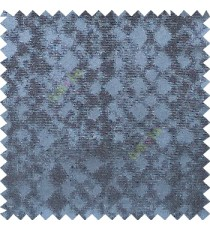 Navy blue color solid texture finished surface texture gradients geometric dice shapes polyester main curtain
