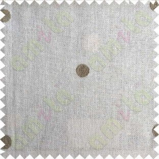 White Cotton Translucent with Brown Polka Dots Curtain Designs