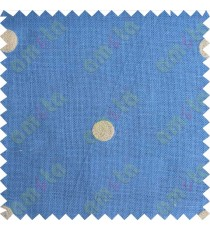 Blue with beige polka dots embroidery sheer cotton curtain designs