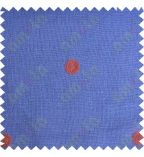 Blue with red polka dots embroidery sheer cotton curtain designs