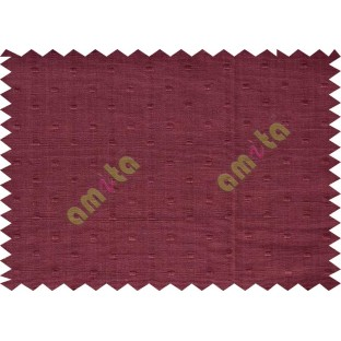 Maroon with square thread dots main cotton curtain designs