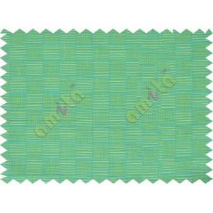 Small square stripes with green and dark blue colour main cotton curtain designs