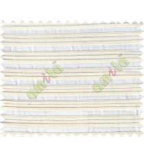 White beige horizontal pleated thick main cotton curtain designs