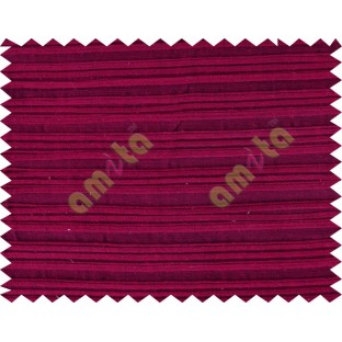 Red maroon horizontal pleated thick main cotton curtain designs