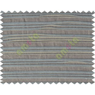 Brown grey horizontal pleated thick main cotton curtain designs