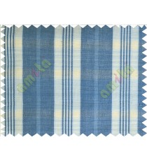Blue white checks main cotton curtain designs
