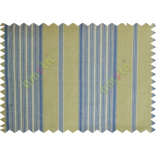 Beige white blue with vertical lines main cotton curtain designs