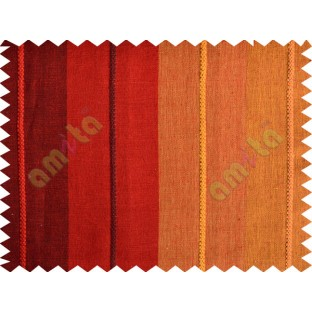 Red maroon orange yellow big stripes main cotton curtain designs