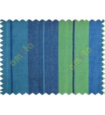 Aqua blue and green stripes main cotton curtain designs