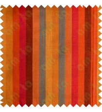 Orange red yellow purple maroon turquoise stripes main cotton curtain designs