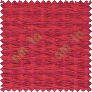 Maroon red pinch diamond pleat cushion cotton fabric