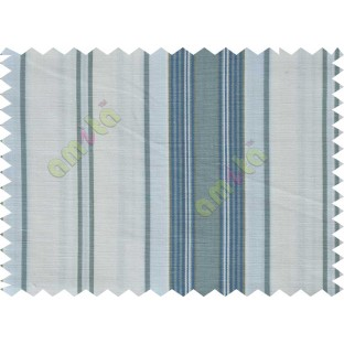 White grey blue stripes main cotton curtain designs