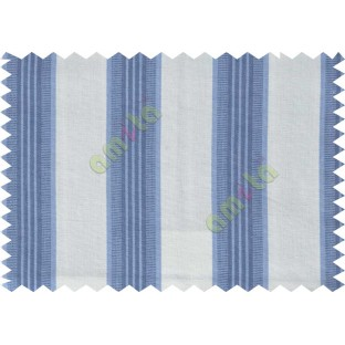 White royal blue stripes main cotton curtain designs
